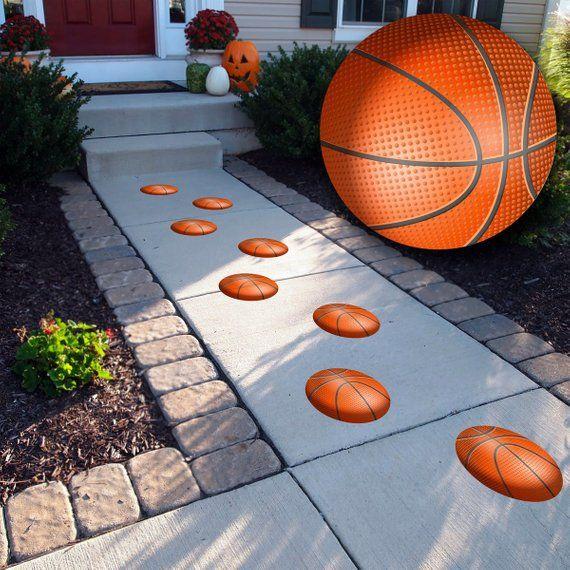 Textured Basketball Floor Decals Indoor Outdoor 9 Etsy Basketball Decal Basketball Floor Floor Decal