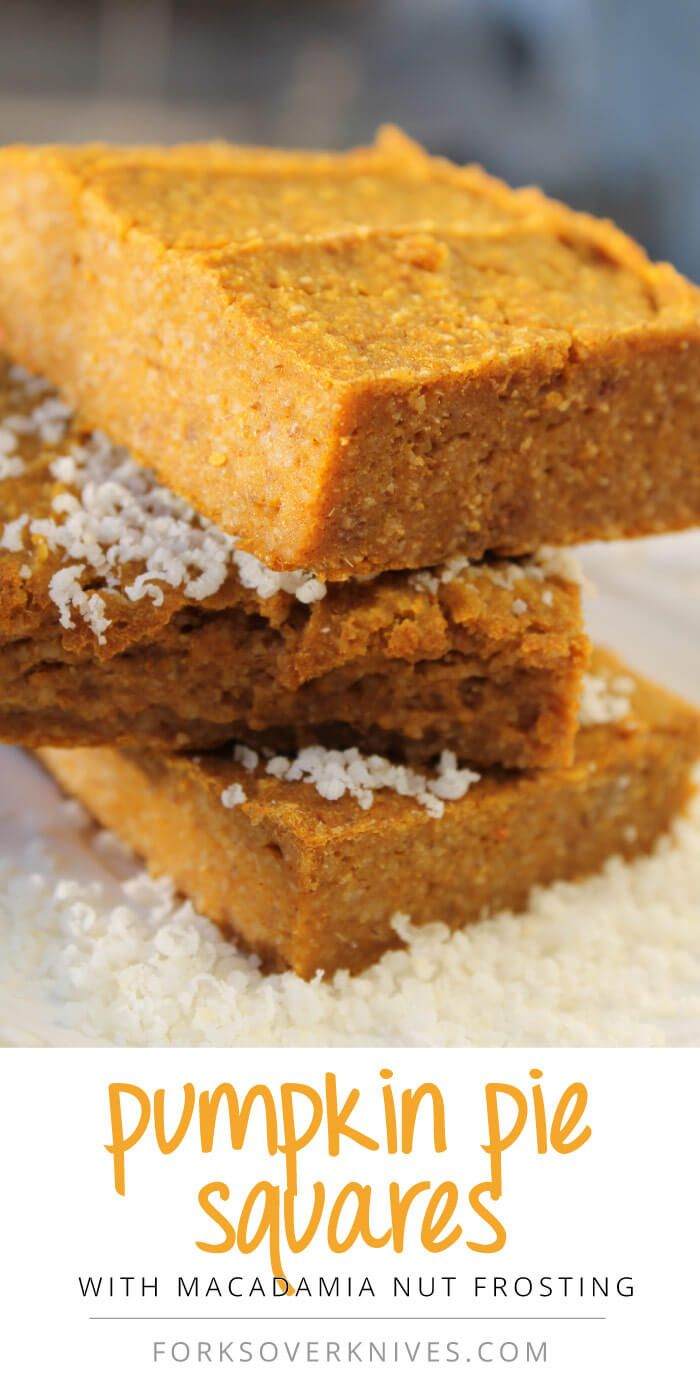 Pumpkin Pie Squares - gluten-free (if certified GF oat flour), vegan, AND delicious!!! =)