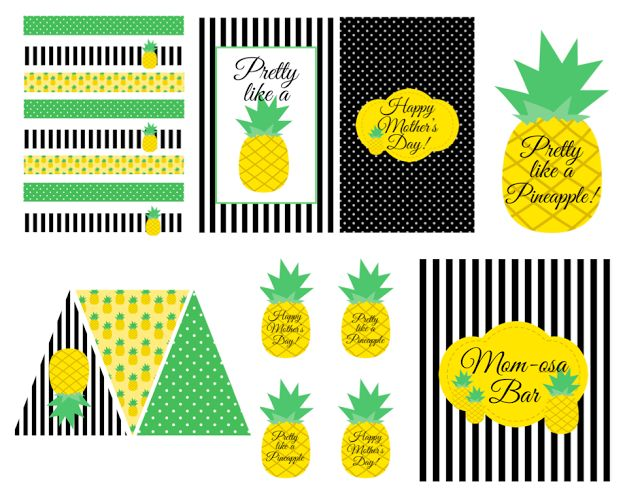 "LAURA'S little PARTY: {FREE} Pineapple Themed Printables! A fun way to celebrate when you're feeling ""pretty as a pineapple""!"