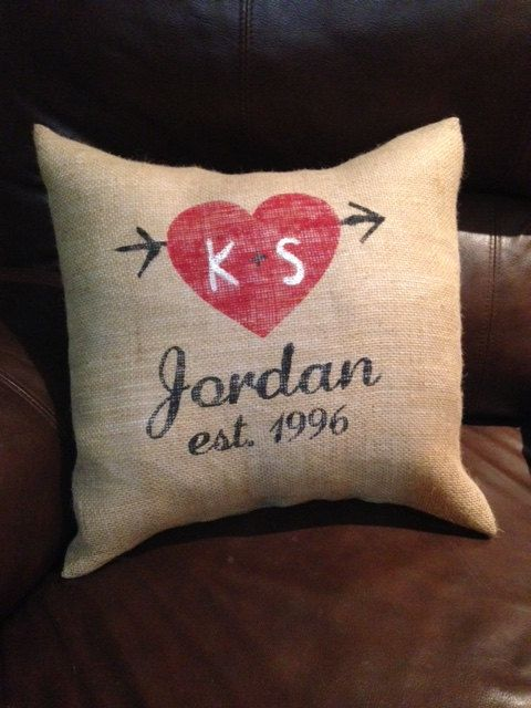 Hey I found this really awesome Etsy listing at ://. Burlap PillowsMonogram ... & 241 best Pillow Ideas images on Pinterest   Cushions Burlap ... pillowsntoast.com