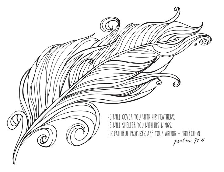 always be brave feather coloring pages for kids - Coloring Book Printable