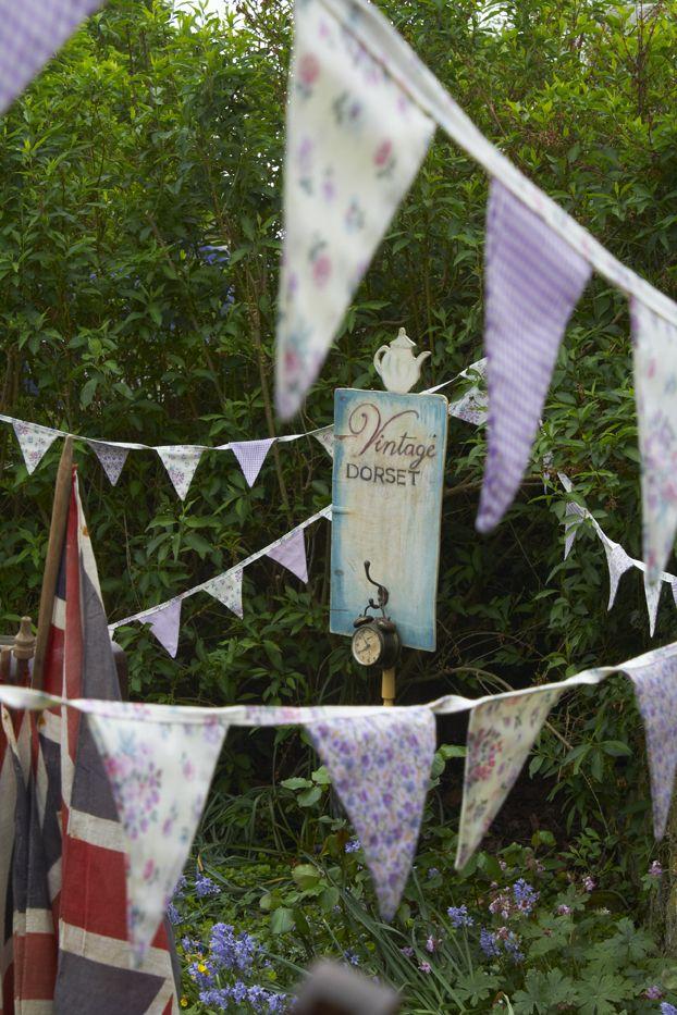 Garden + bunting = British Summer