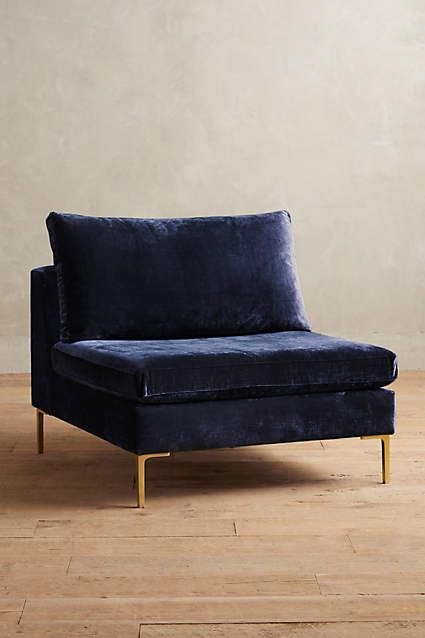 Slub Velvet Edlyn Chair - anthropologie.com - another possibility for the 3rd floor - or is it too big?