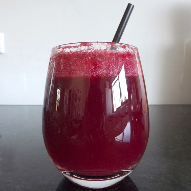 Bubbly Beetroot & Apple Juice Recipe - 54 calories per glass