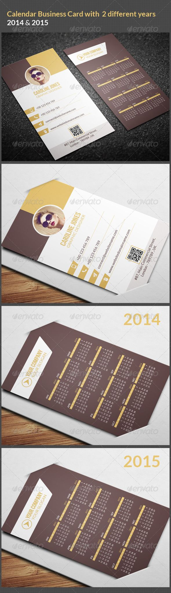 60 best creative business cards images on pinterest business cards calendar business card 2014 2015 reheart Images