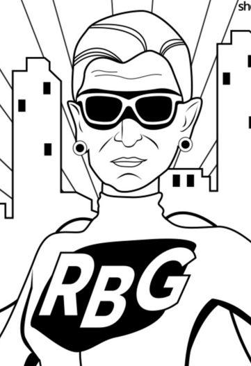 ruth bader ginsburg coloring pages