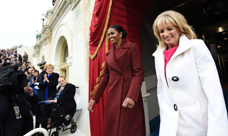 January 20, 2017  - ELLE.com First Lady Michelle Obama and Dr Jill Biden(Vice President's wife)