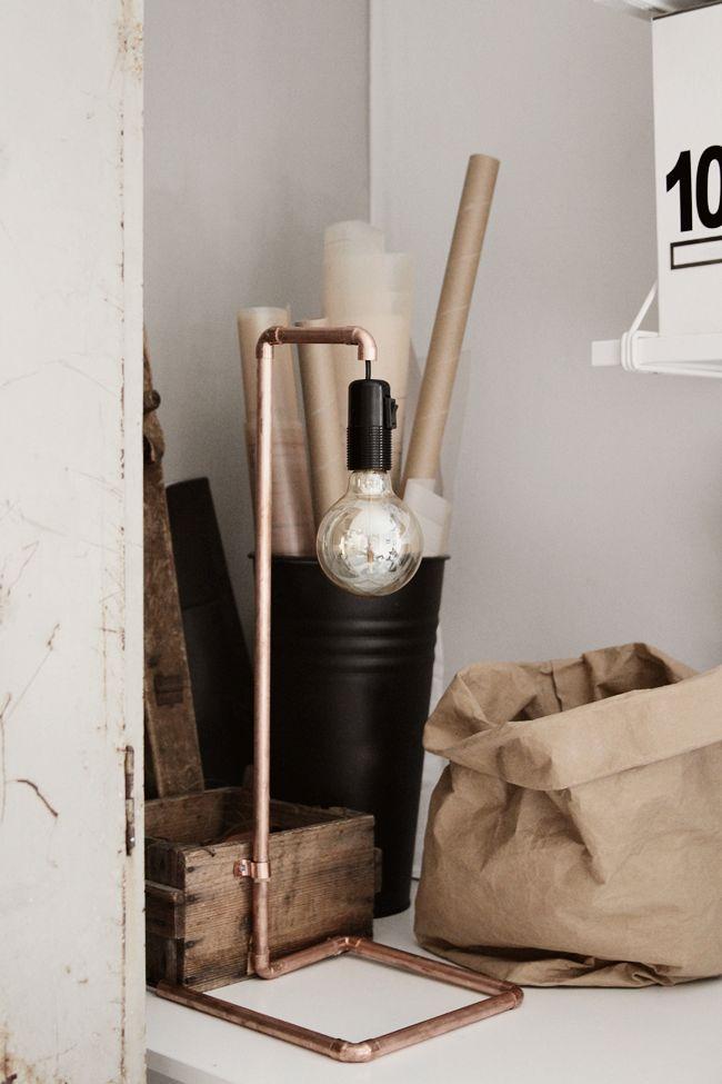 Oltre 25 fantastiche idee su lampade di rame su pinterest for Tipi di tubi di rame
