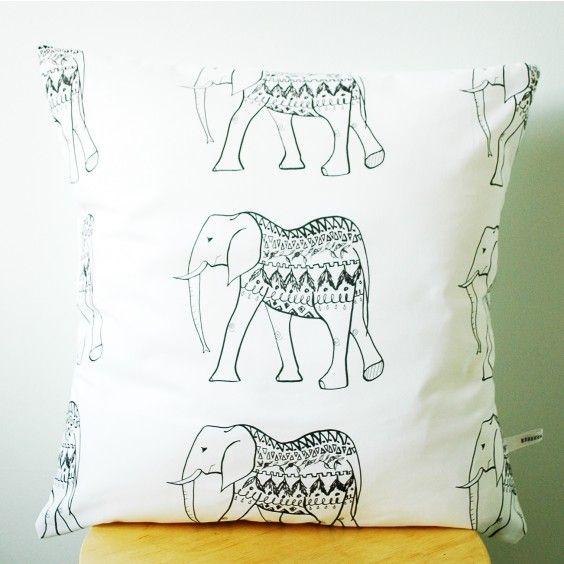 Rebecca Kiff Elephant Cushion Cover