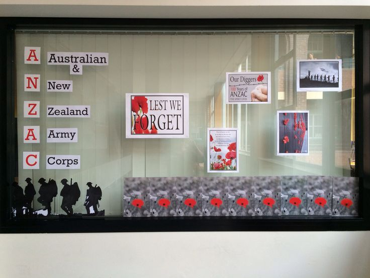 A collection of ideas I got for Anzac Day display