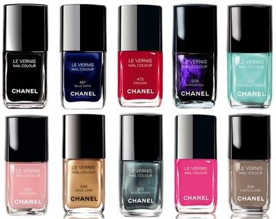 chanel nail polishes
