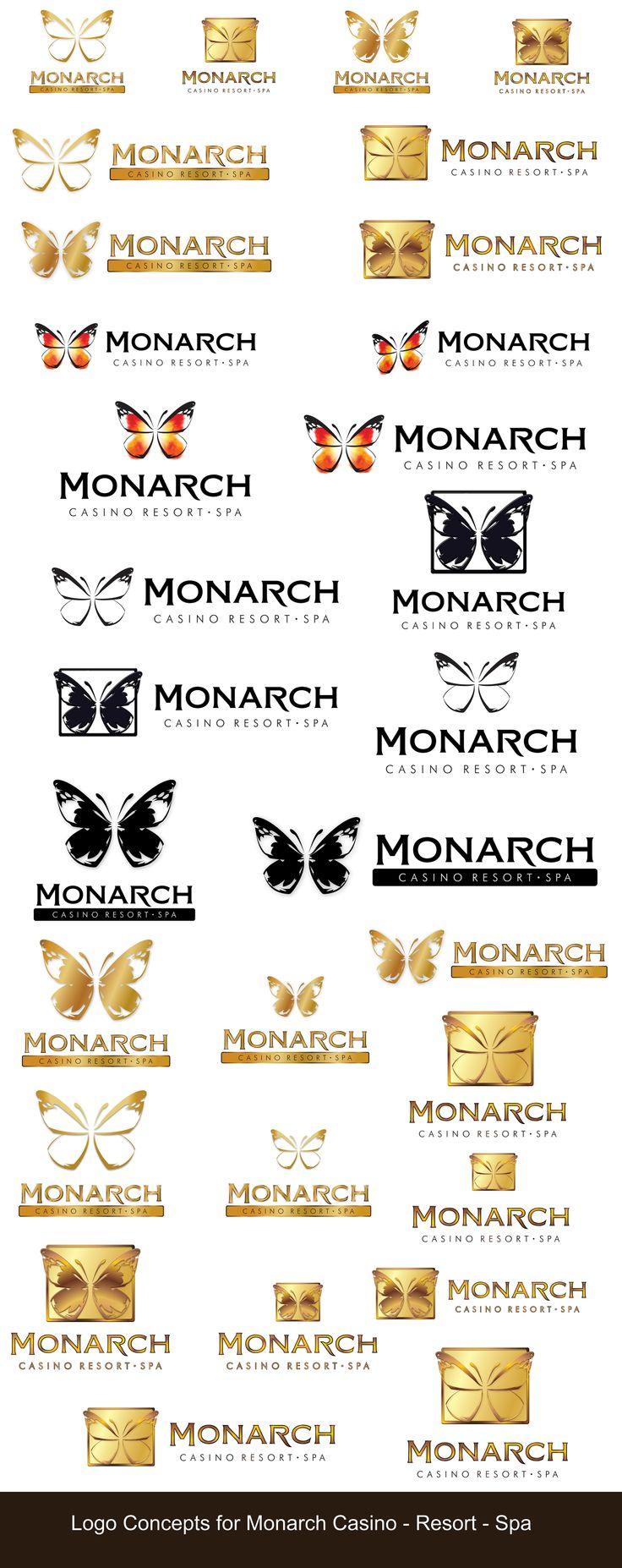 Logo Concepts for Monarch Casino - Resort - Spa.  Designed by Kathy Morton Stanion.