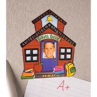 "Always have your favorite student nearby. A cute way to display a 2"" x 3"" picture at the office refrigerator or locker.4 3/4"" x 5 1/2"" high. Magnet."