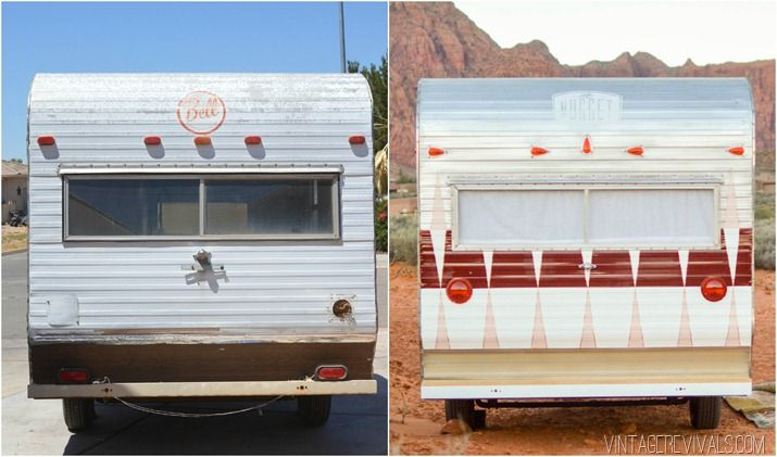 Painting the exterior of a camper trailer