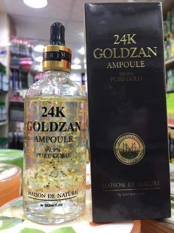 سيرم البشرة Goldzan الكورى سيرم الذهب عيار 24 Whiskey Bottle Bottle Whiskey