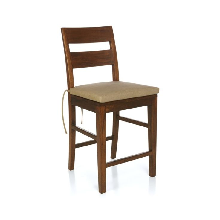Basque Natural Chair–Bar Stool Cushion | Crate and Barrel