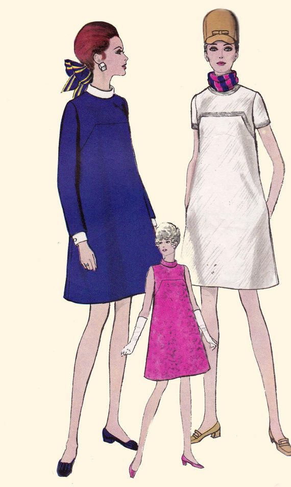 Vintage 1960s Maternity Dress Sewing by allthepreciousthings, $14.00