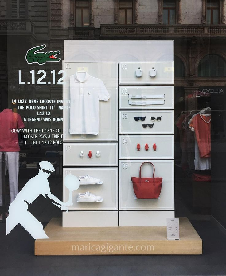 @lacoste #window has the L.21.21 Collection exposed and explained briefly on the pane. With this collection they are paying tribute to L.21.21 Polo first polo shirt invented by Rene Lacoste
