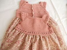 Knit and liberty print dress - Tricotting