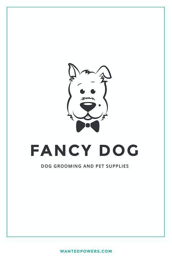 Fancy Elegant Dog Bow Logo Custom Pre Made Logo Design Pet Etsy Dog Logo Design Dog Grooming Dog Bows