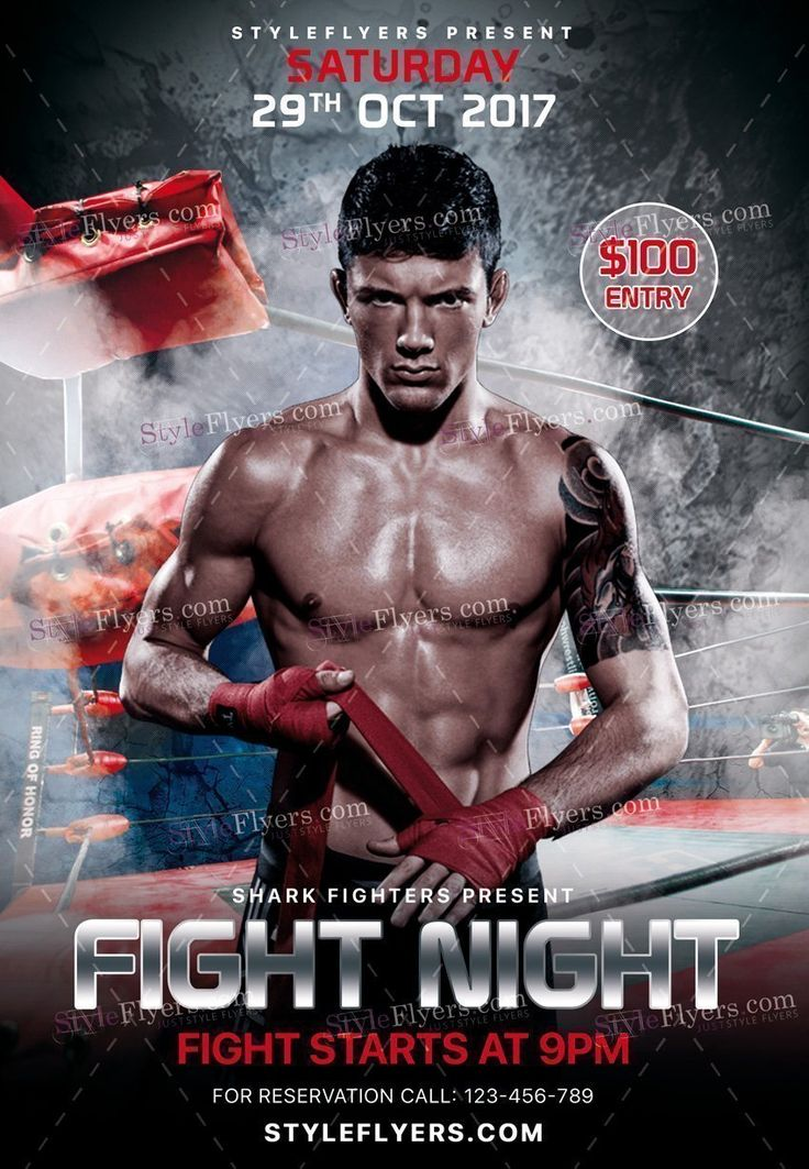 41 best sport flyers images on Pinterest Business printing - ufc flyer template