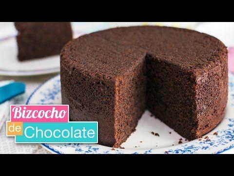 Bizcocho de chocolate muy rico, jugoso y esponjoso. ¡Receta fácil!