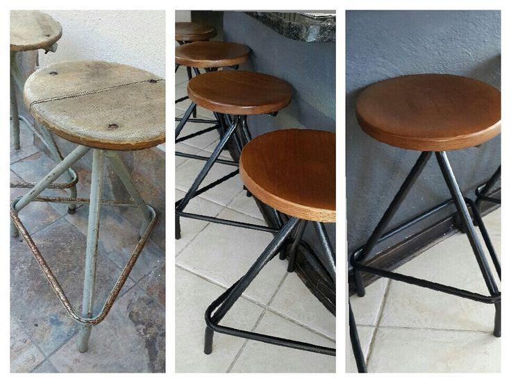 Old school science lab stools ...