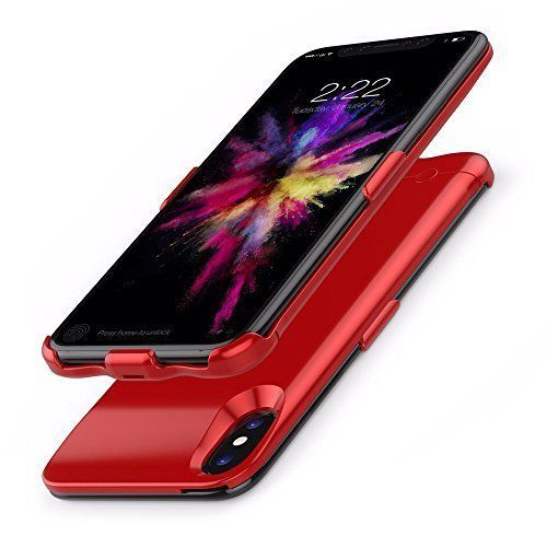 iPhone X Battery Case Slim Protective External Backup LED Charger Power Bank Red #BatteryCases