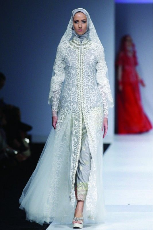 Fashion show muslimah dress pinterest