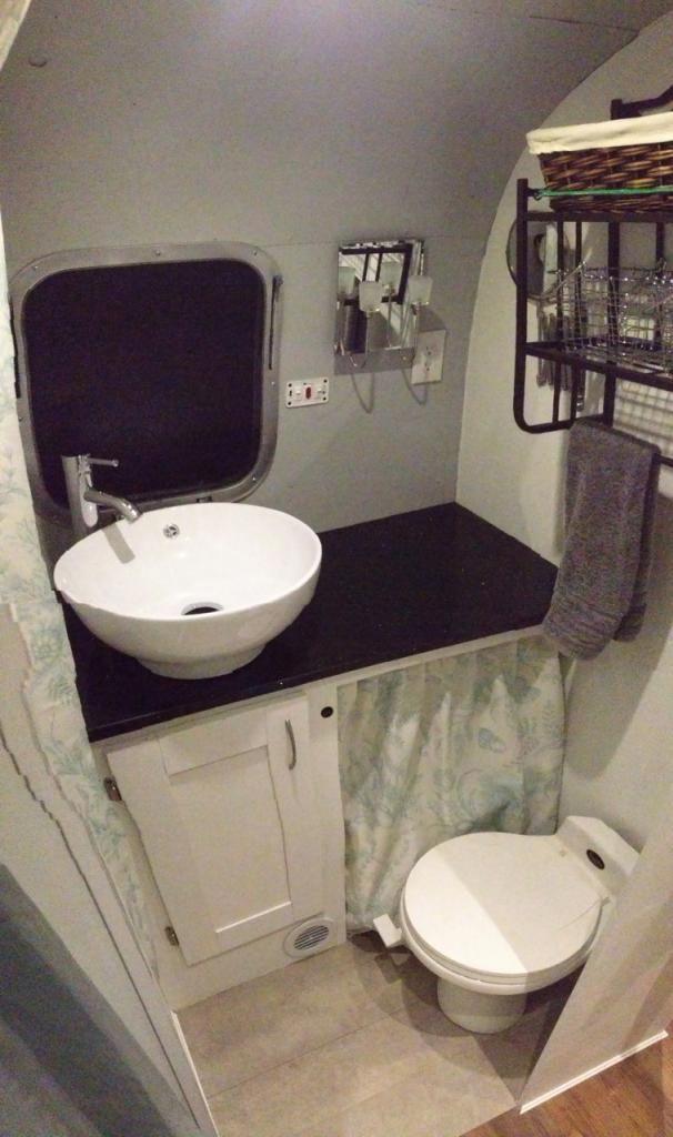 Nice Bathroom Redo The Silver Bullet Pinterest Photos Nice And Small Rv