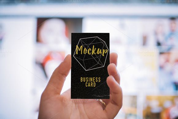 Retro Mock-up Business Card by Northern Kraft on Creative Market
