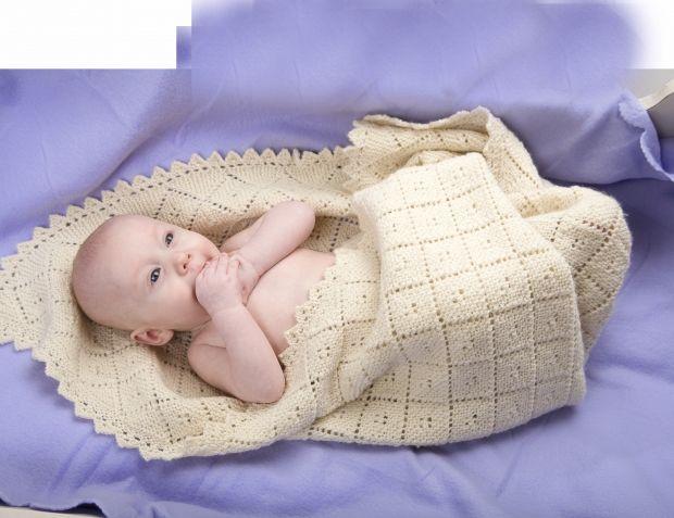 Blødt babytæppe | Strikkeopskrift