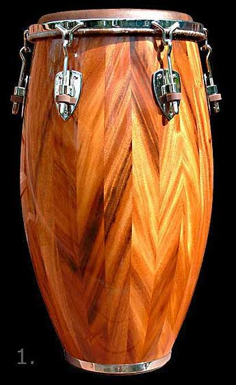 Image Detail for - ... Percussion - Master Crafted Hand Made Hawaiian Monkeypod Conga Drums