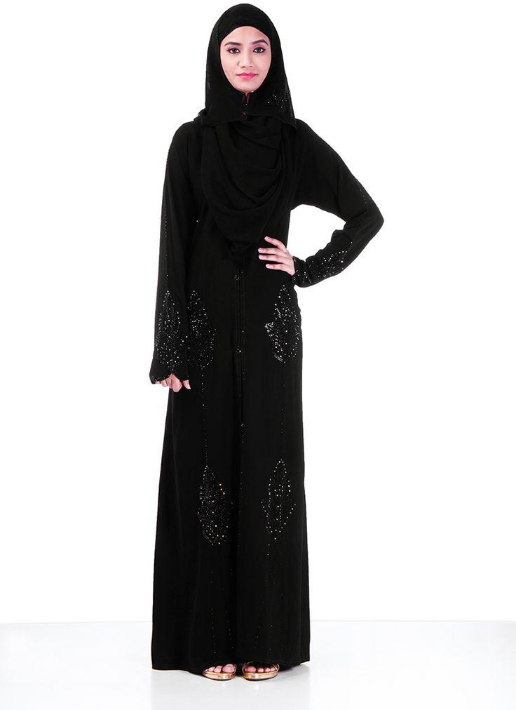 Ravishing Black #Polyester #Abaya