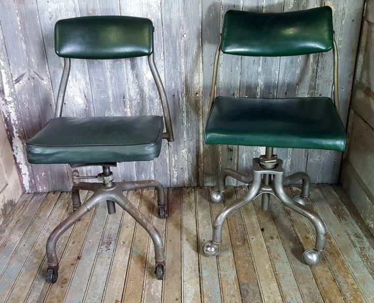 Vintage Industrial Office Chairs x Two - Tramps