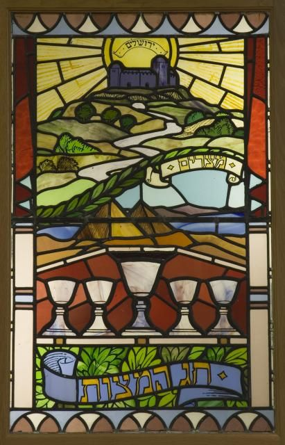 Passover from Jewish Festivals - image from Stained Glass in Wales