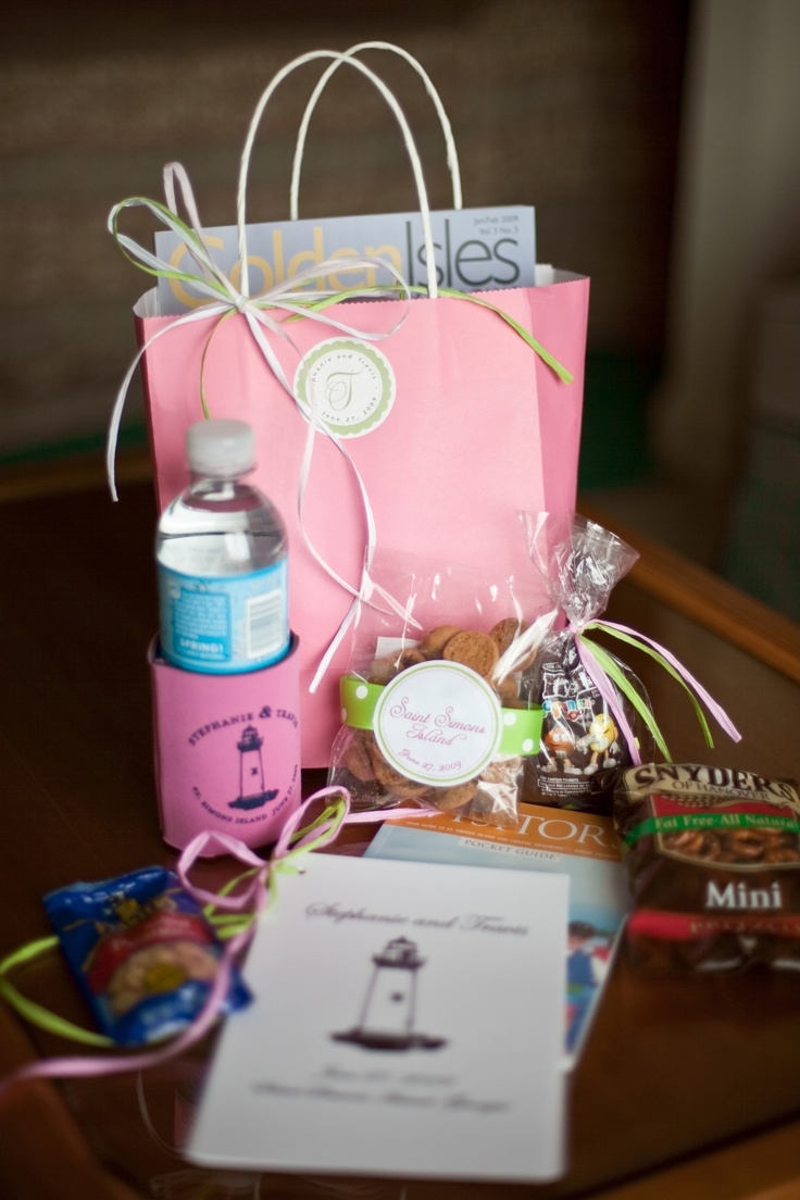 Guest bag ideas OOT Bags -Out of Town Guest Bags Pinterest Ideas ...