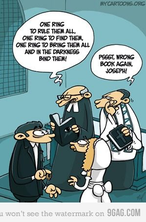 Lord of the RingsGeek, The Lord, Laugh, The Vows, Wrong Book, Funny, Humor, Wedding Rings, Vows Renewals