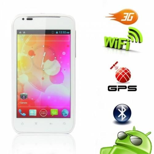 """4.3"""" Dual SIM White Touch Android You asked for it, and here it is—an affordable touch-screen phone that has everything you'd want in a personal cell phone. They've merged it with Google Android 4.0 OS technology so you can have the latest functions all-in-one for your action-filled life. This incredible..."""