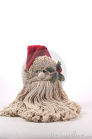 how to make a santa out of a mop head - Google Search