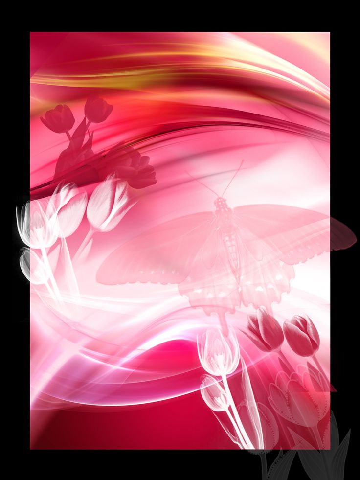 Růžové+tulipány+Autorská+počítačová+grafika.+50x70+cm,+signováno+Stačí+zarámovat+pod+sklo,+nebo+do+clipu.