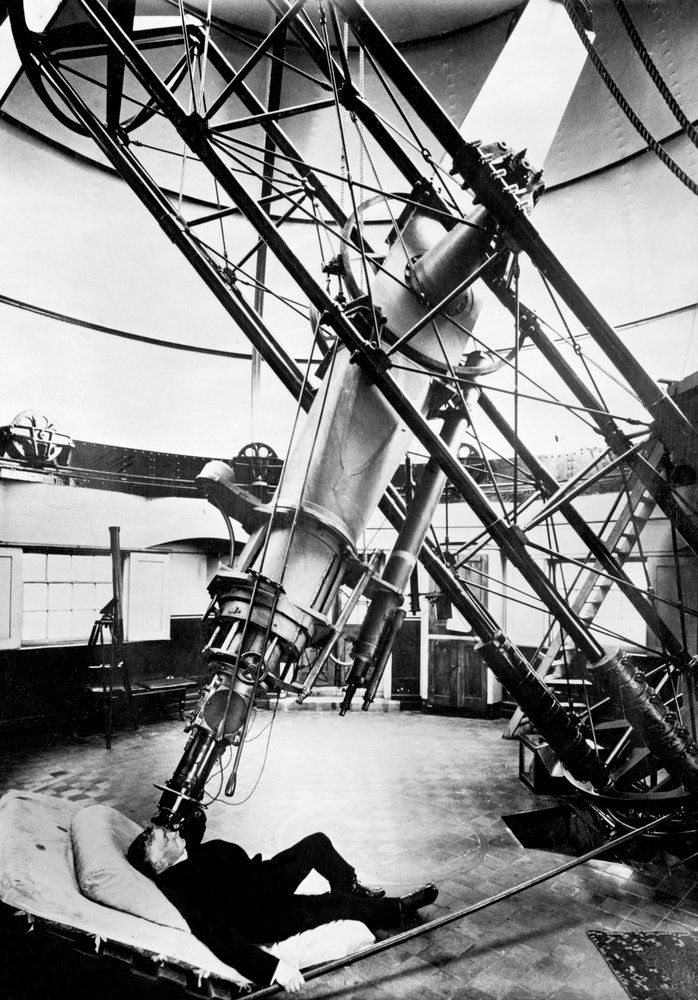 Using the 28-inch refracting telescope at Royal Observatory, Greenwich - unknown - Royal Museums Greenwich Prints