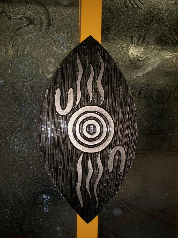 Modern waterhole on shield