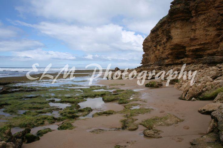 Green Rocks at Bells Beach, Victoria Australia http://elmphotographydesigns.bigcartel.com/product/rocks-on-the-beach