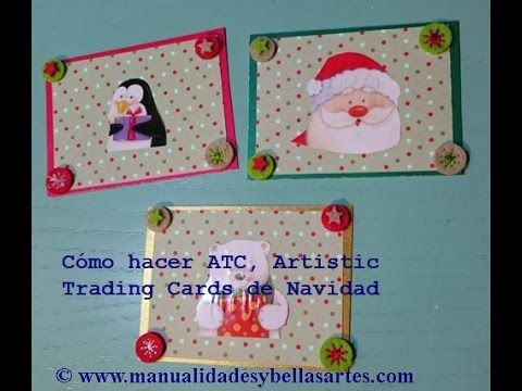 ATC, Artistic Trading Cards, tarjetas artísticas scrapbooking paso a paso