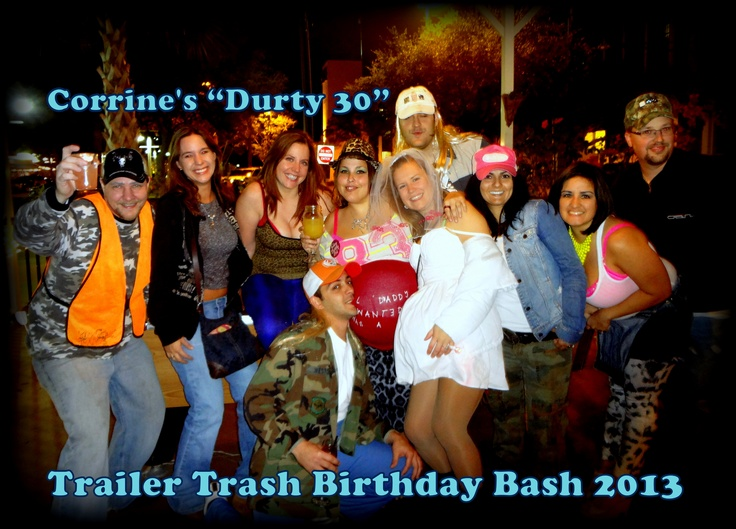46 best Steves 30th White Trash Bash images – Trailer Trash Party Invitations