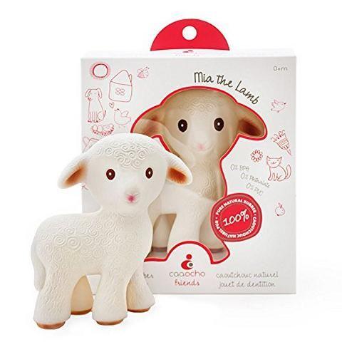Schnuller Alternative: - Lamm *Mia* - ✓ aus Naturkautschuk ✓ mit Lebensmittelfarben gefärbt ✓ Spielzeug, Schnuller-Ersatz & Zahnungshilfe in einem!
