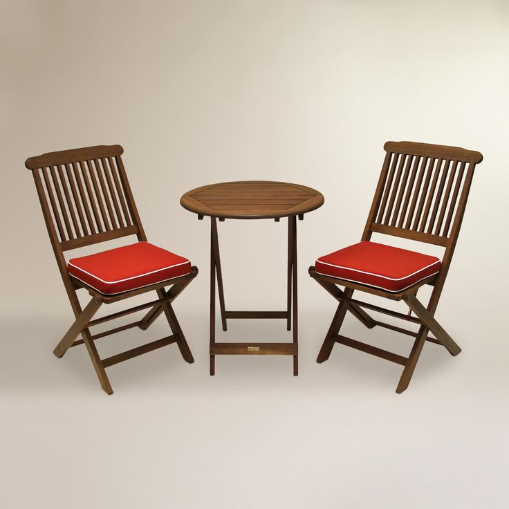 Our Affordable Outdoor Bistro Set Features A Round Table Two Easy To Store F