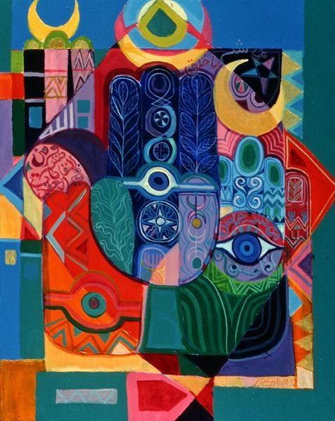 Hands as Amulets I    Color, color, color.