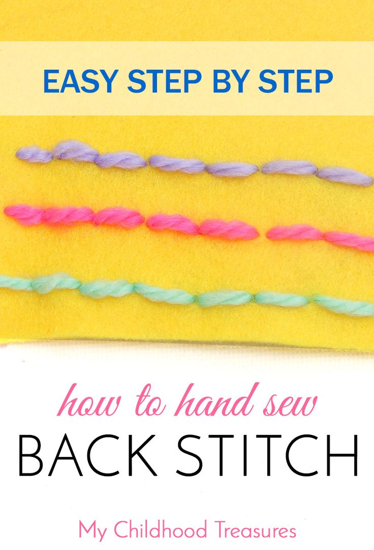 Step by step tutorial on how to backstitch